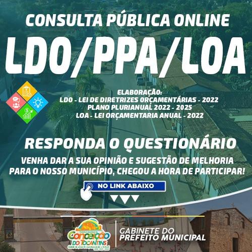 Consulta Pública Online para colheita de sugestões da comunidade